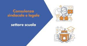 Consulenza sindacale e legale per il settore scuola per il 3 giugno 2020